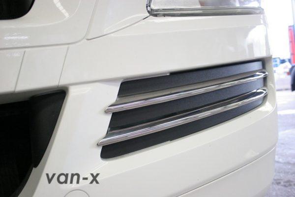Stainless Steel Front Fog Light Trims (4 Pcs) for MAN TGX-3419