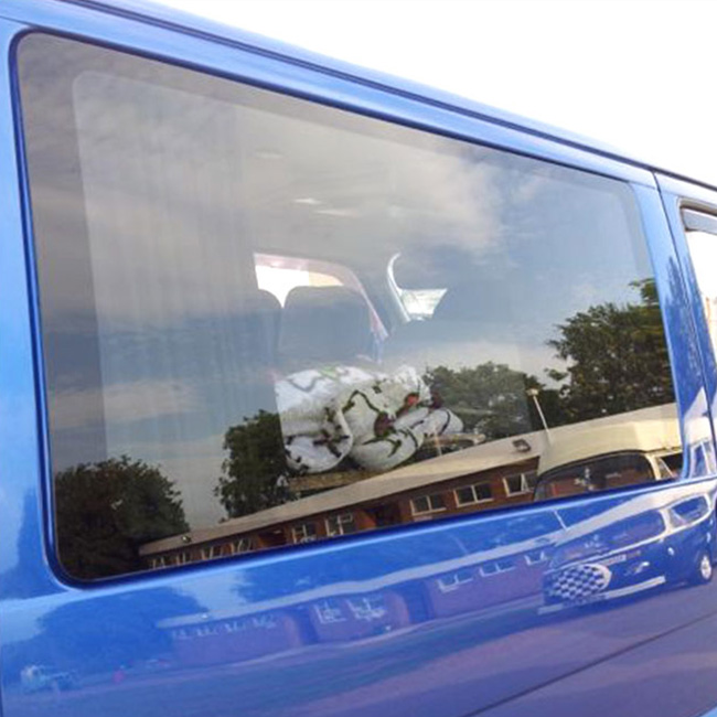 Fixed Side Window Smoked Glass for VW T4 Transporter-0