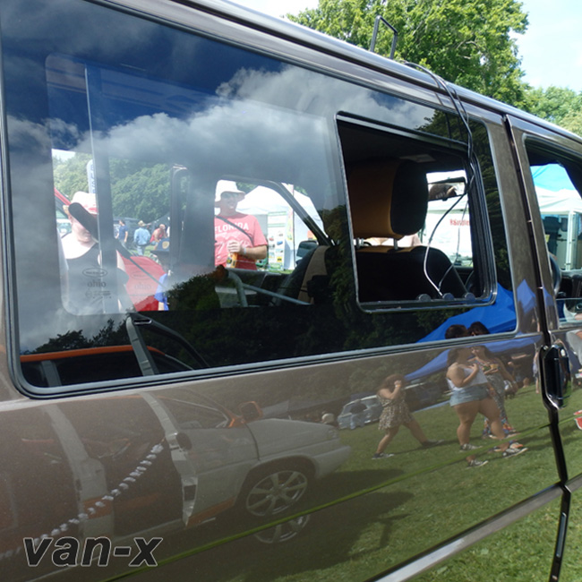 Side Window Sliding Glass for VW T4 Transporter Smoked-19637