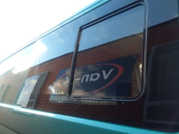 Side Window Sliding Glass for VW T4 Transporter Smoked-3187