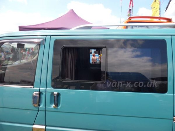Side Window Sliding Glass for VW T4 Transporter Smoked-1267