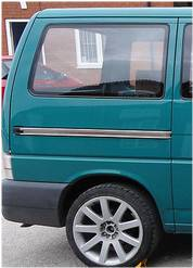 Smoked Rear Quarter Panel Window for VW T4 Transporter LWB-2213