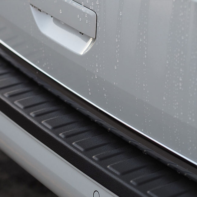 Rear Bumper Protector BLACK for VW T6 TAILGATE-8901