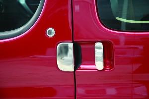 Door Handle Covers (5 Pcs) for Citroen Berlingo / Peugeot Partner Stainless Steel (Gift idea)-20494