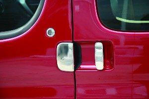 Door Handle Covers (3 Pcs) for Citroen Berlingo / Peugeot Partner Stainless Steel (The perfect present)-20489