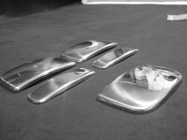 Door Handle Covers (5 Pcs) for Citroen Berlingo / Peugeot Partner Stainless Steel (Gift idea)-20495