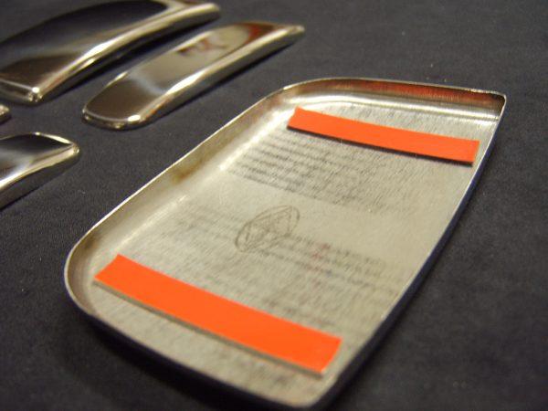 Door Handle Covers (5 Pcs) for Citroen Berlingo / Peugeot Partner Stainless Steel (Gift idea)-20496