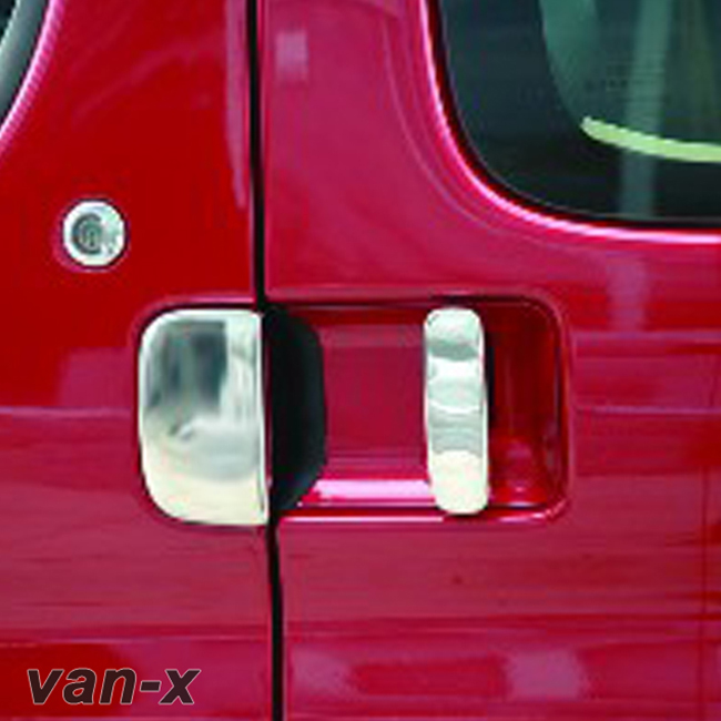 Door Handle Covers (5 Pcs) for Citroen Berlingo / Peugeot Partner Stainless Steel (Gift idea)-0