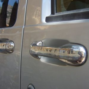 Door Handle Covers (5 Pcs) for Ford Connect Stainless Steel (A great gift!)-0