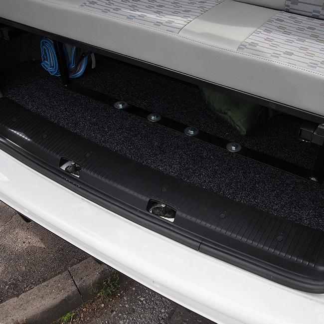 Rear Threshold For VW T6 Barndoor / Twin Door ABS Plastic Full length-0